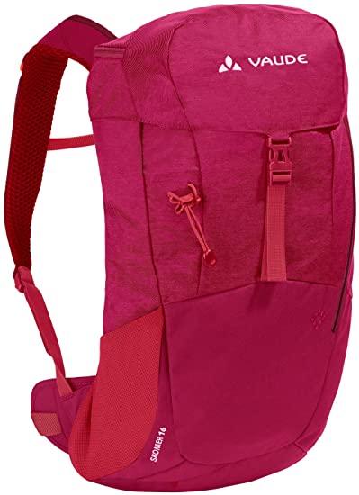 Wanderrucksack VAUDE Women's Skomer 16 crimson red - Gewicht: 800 g Volumen: 16 l Maße: 45 x 21 x 13 cm Lastbereich: 3 - 8 kg