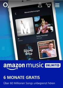 [ O2 Priority Mobil] Amazon Music Unlimited 6 Monate kostenlos