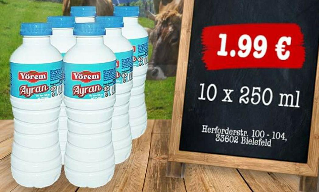 10x Yörem Ayran 250ml für 1,99€ [Megafood Bielefeld]