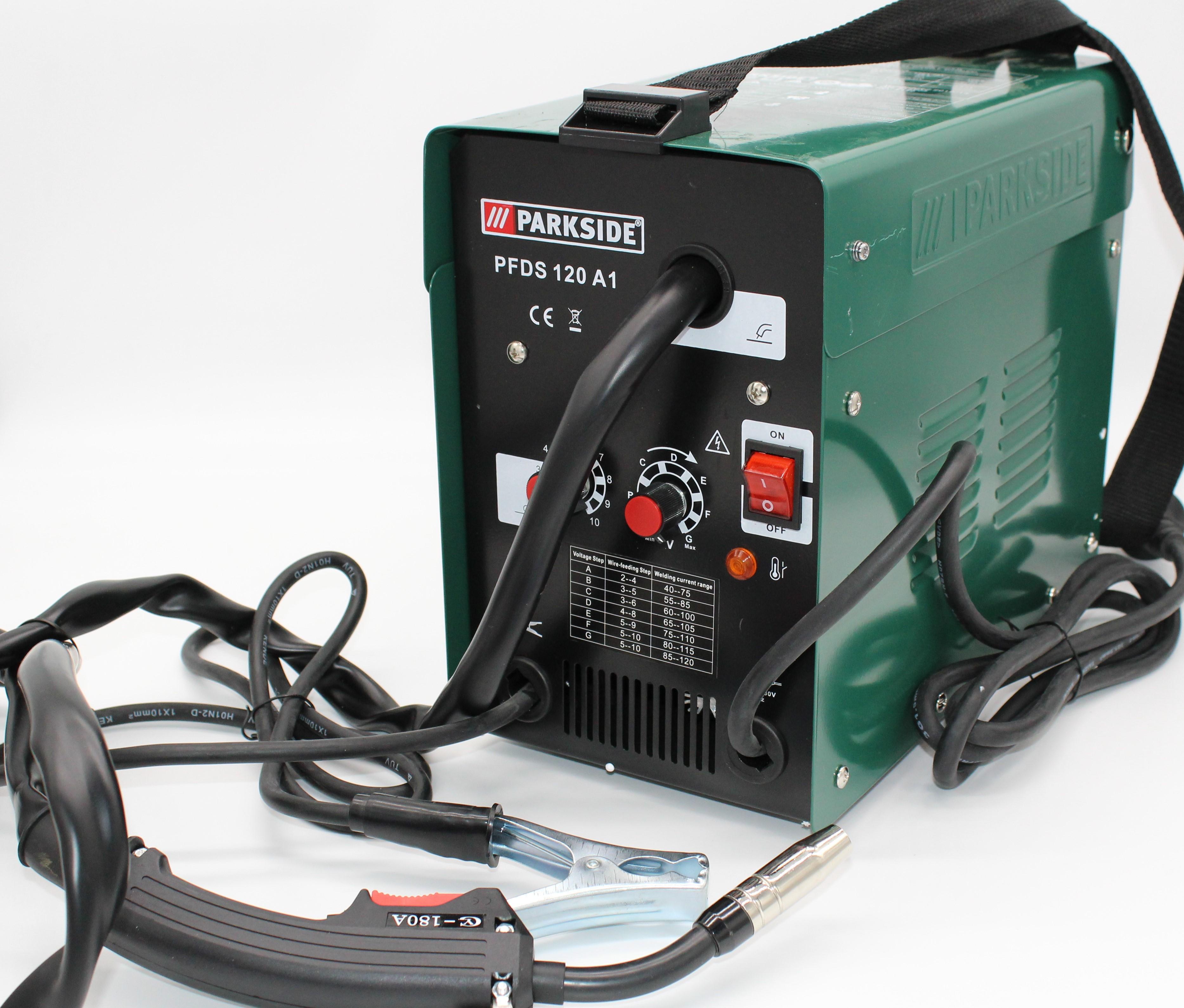 PARKSIDE® Fülldraht-Schweißgerät »PFDS 120 A1«, 25-120 A Schweißstrom, stufenlos regelbar
