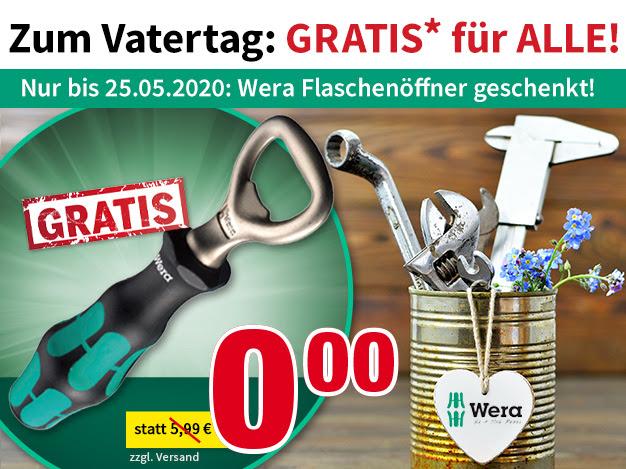 Voelkner: Wera Flaschenöffner Gratis, Ab einem Mindestbestellwert von 29,00 €
