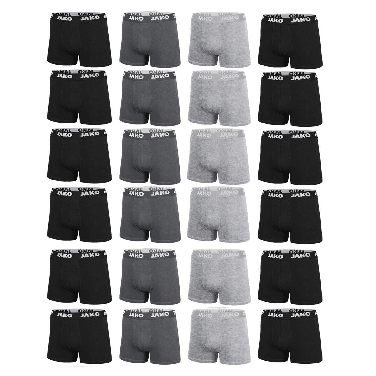 Jako Boxershorts Basic 24er Pack - S-XXL - Farben kombinierbar - weitere Spar-Packs verfügbar