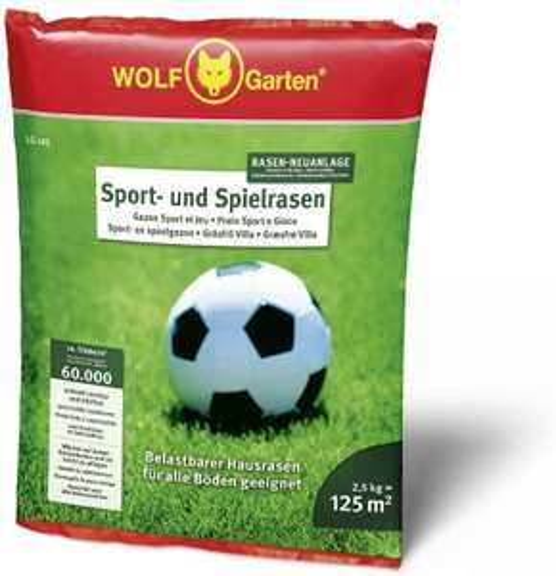 [Amazon Prime] Wolf Sport- und Spielrasen 2,5kg / 125m²