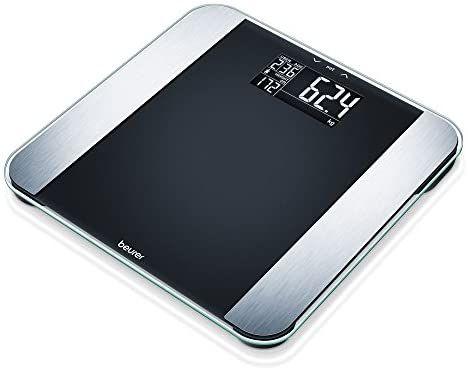 Beurer BF LE Limited Edition Glas-Diagnosewaage, Körperfettwaage mit Kalorienanzeige AMR und modernem Schwarz-Display [Amazon Prime]