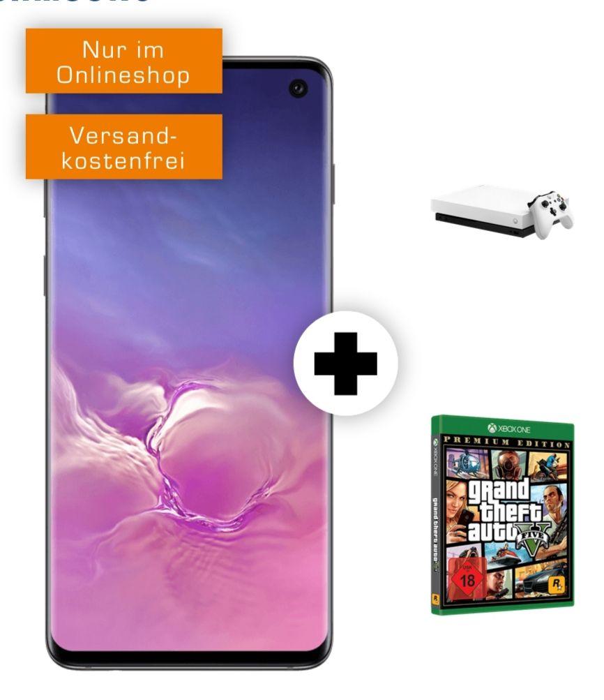 Samsung Galaxy S10 und Xbox One X mit GTA 5 im Debitel Telekom Magenta Mobil S (6GB 5G 300Mbit, StreamOn Music) mtl. 29,95€ einm. 79€