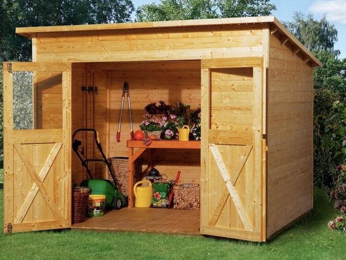 Holz-Gartenhaus Nova 2 lasiert 200 cm x 195 cm