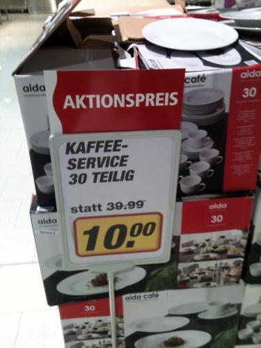 [Lokal, Hamburg] 30tlg. Kaffee-Service für 10,- Euro @toom Supermarkt
