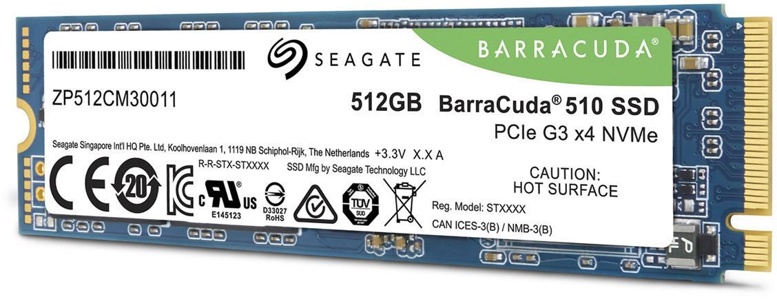 Seagate Barracuda 510 SSD 512GB M.2 PCIe x4 NVMe für 79,89€ inkl. Versand