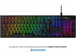[MM & Amazon] Kingston HyperX Alloy Origins - Gaming Tastatur (LEDs RGB, HyperX RED, USB, DE) HX-KB6RDX-DE