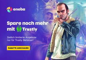 Eneba-Angebote bei Zahlung mit Trustly: z.B. Red Dead Redemption 2 - 30,06€ | Dragon Ball Z: Kakarot - 25,16€ | Borderlands 3 - 17,81€