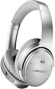 Bose QuietComfort 35 (Series II) Wireless Headphones, Noise Cancelling with Alexa built-in - Silver at Amazon UK