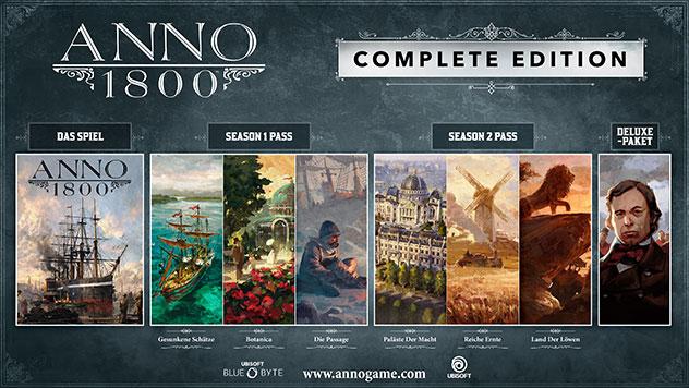 [Epic Store Brasilien] Anno 1800 Complete Edition inkl. Season Pass 1&2 für 22,91€ PC
