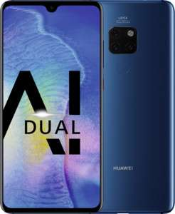 Huawei Mate20 Dual-SIM Smartphone Bundle (6,53 Zoll, 128GB, 4 GB RAM, Android 10) midnight blau + USB Typ-C-Adapter
