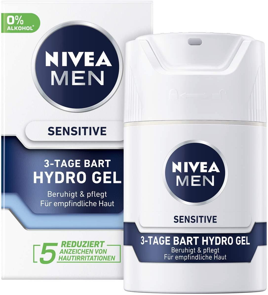 Nivea Men Sammeldeal: z.B. 2xSensitive 3-Tage Bart Hydro Gel je 50ml oder 6x Rasierschaum für 9,68€ [Amazon Prime]