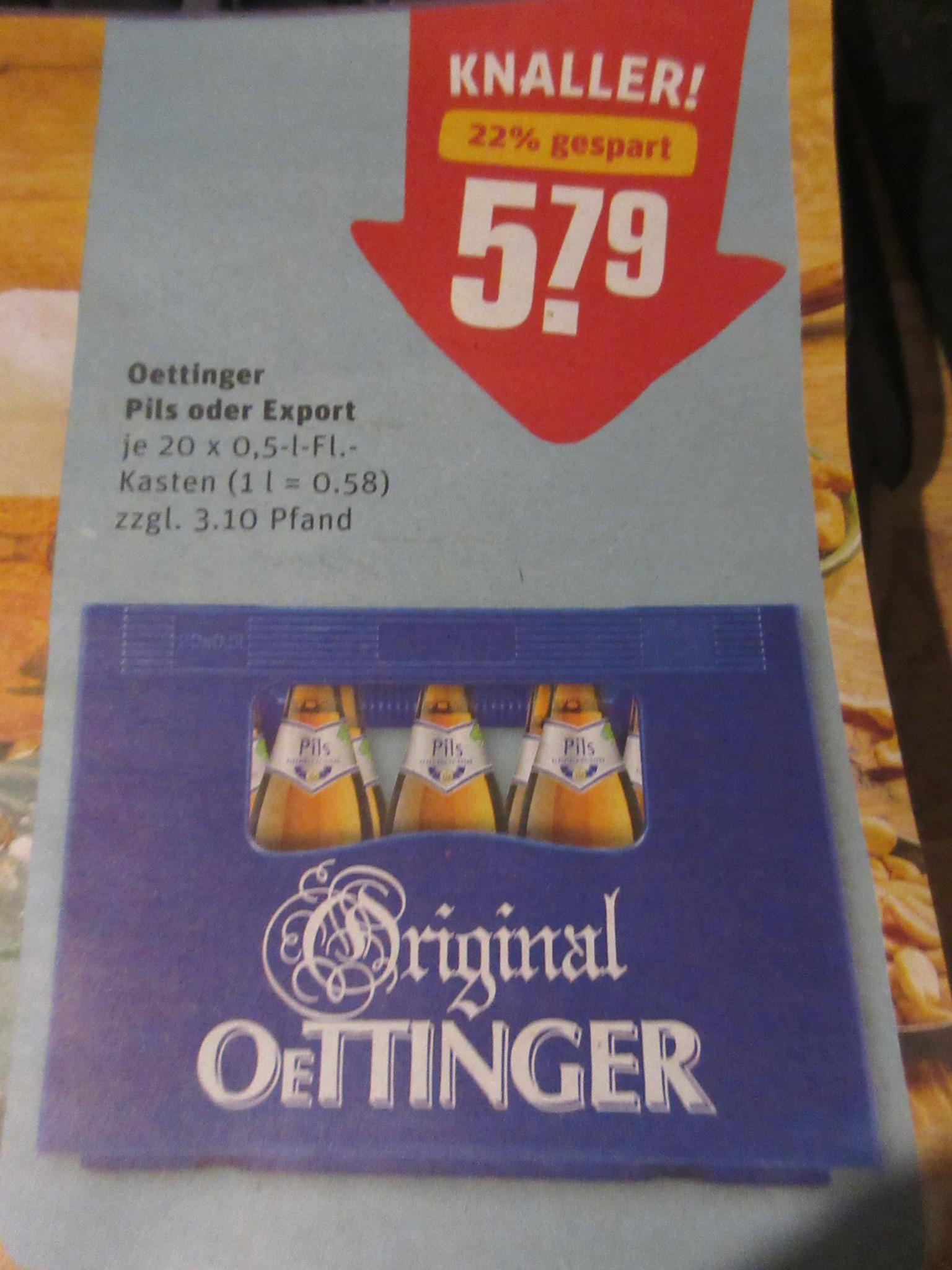 REWE / Oettinger Pils und Export
