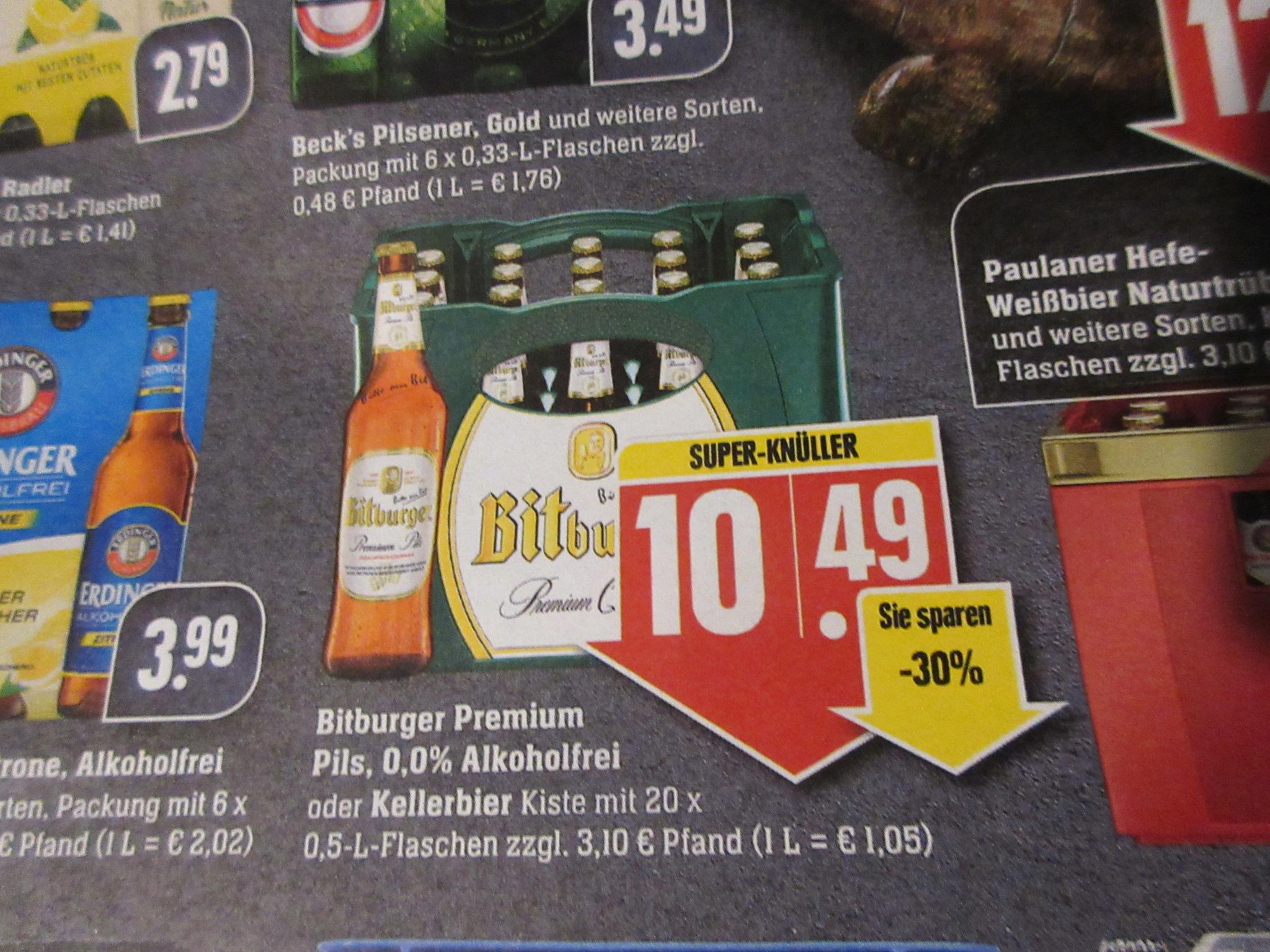 Edeka Südwest / Marktkauf / Bitburger Bier mit Coupon kaufen