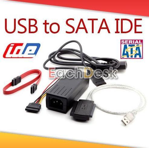 USB 2.0 to SATA IDE 2.5 3.5 Hard Drive HDD Adapter 5,36 EUR inkl. Versand