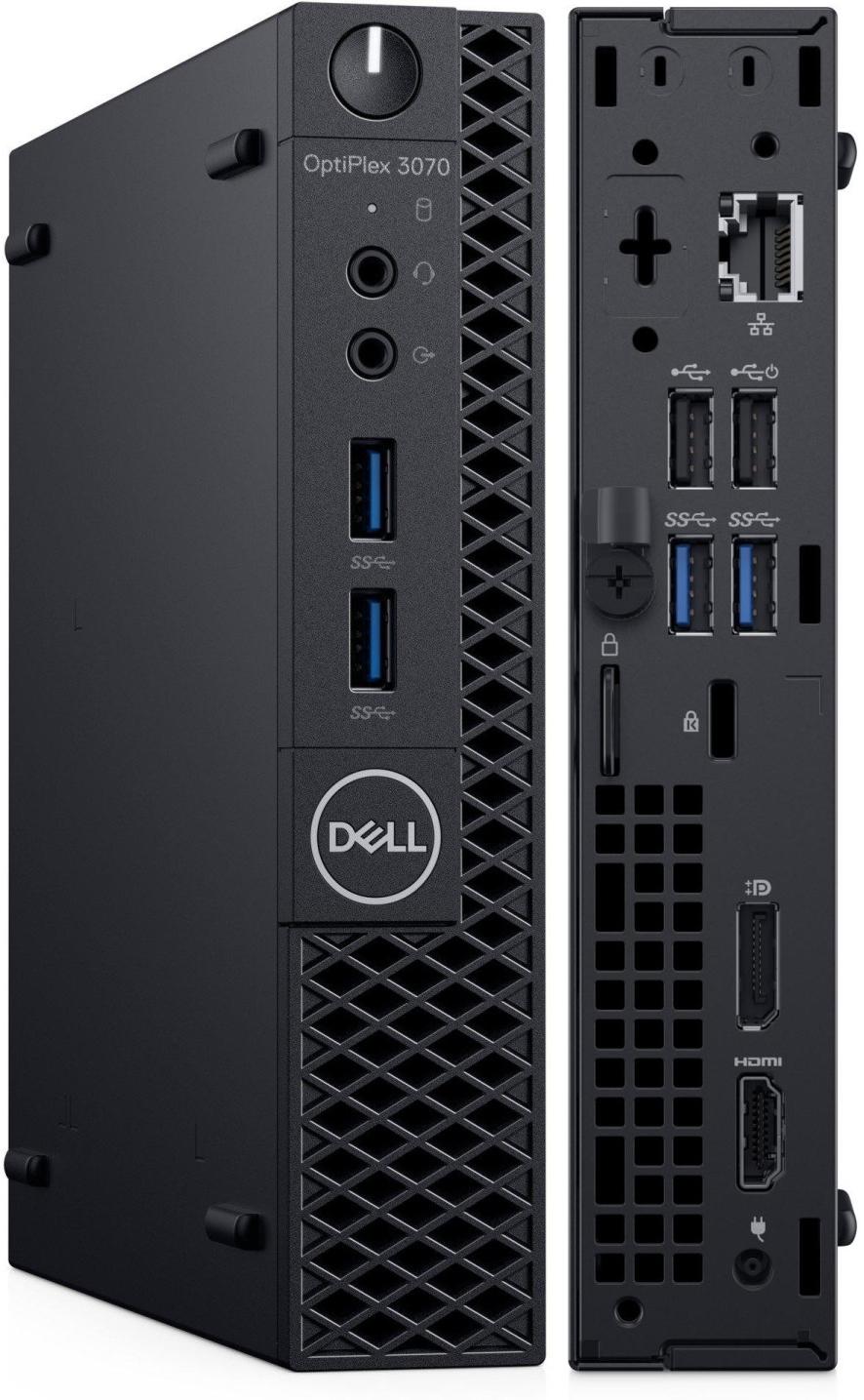 Dell OptiPlex-Angebote: z.B. Dell OptiPlex 3070 (i3-9100T, 8GB RAM, 256GB SSD, HDMI, DP, 4x USB 3.0, 2x USB 2.0, WLAN, LAN, BT, Win10 Pro)