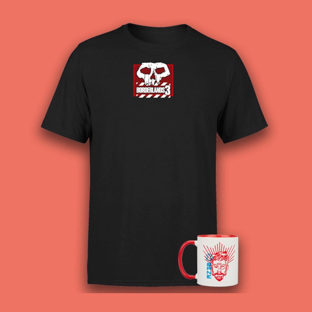 Borderlands-Bundle: T-Shirt (Gr. S - XXL) & Tasse (jeweils verschiedene Modelle) für 11,48€