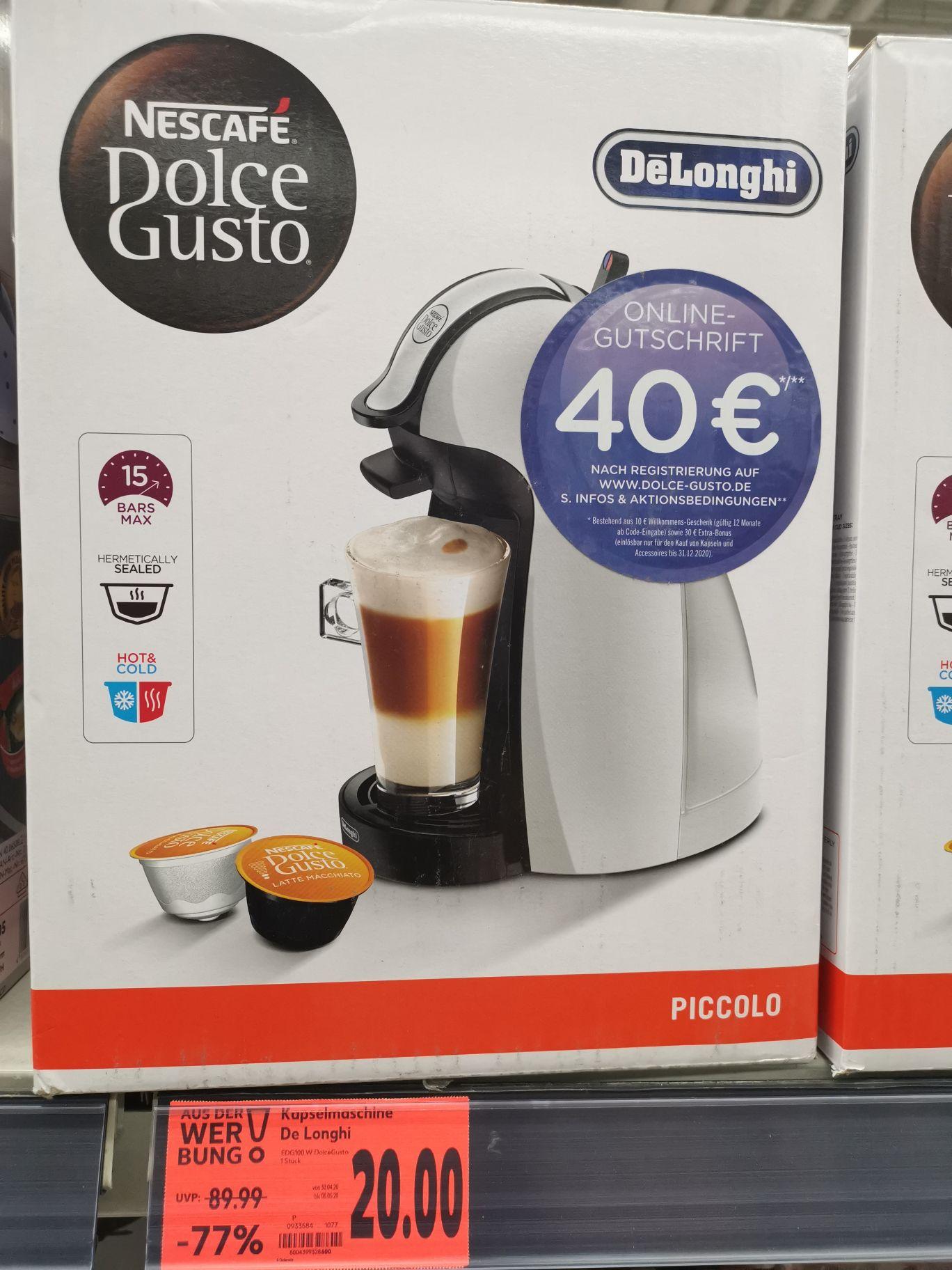 *lokal* Kaufland Ravensburg DeLonghi Dolce Gusto piccolo edg 100.w, inklusive 40€ Gutschein!