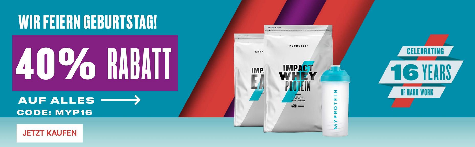 40% Rabatt bei myprotein auf alles