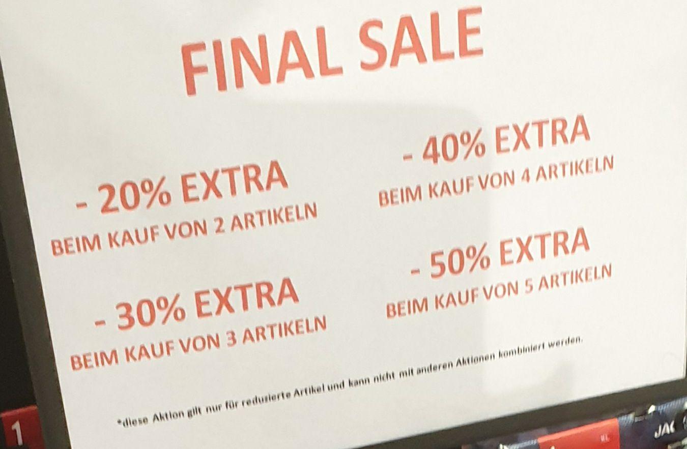 [Lokal Eiche] JACK & JONES 50% Rabatt bei kauf von 5 reduzierte Artikel