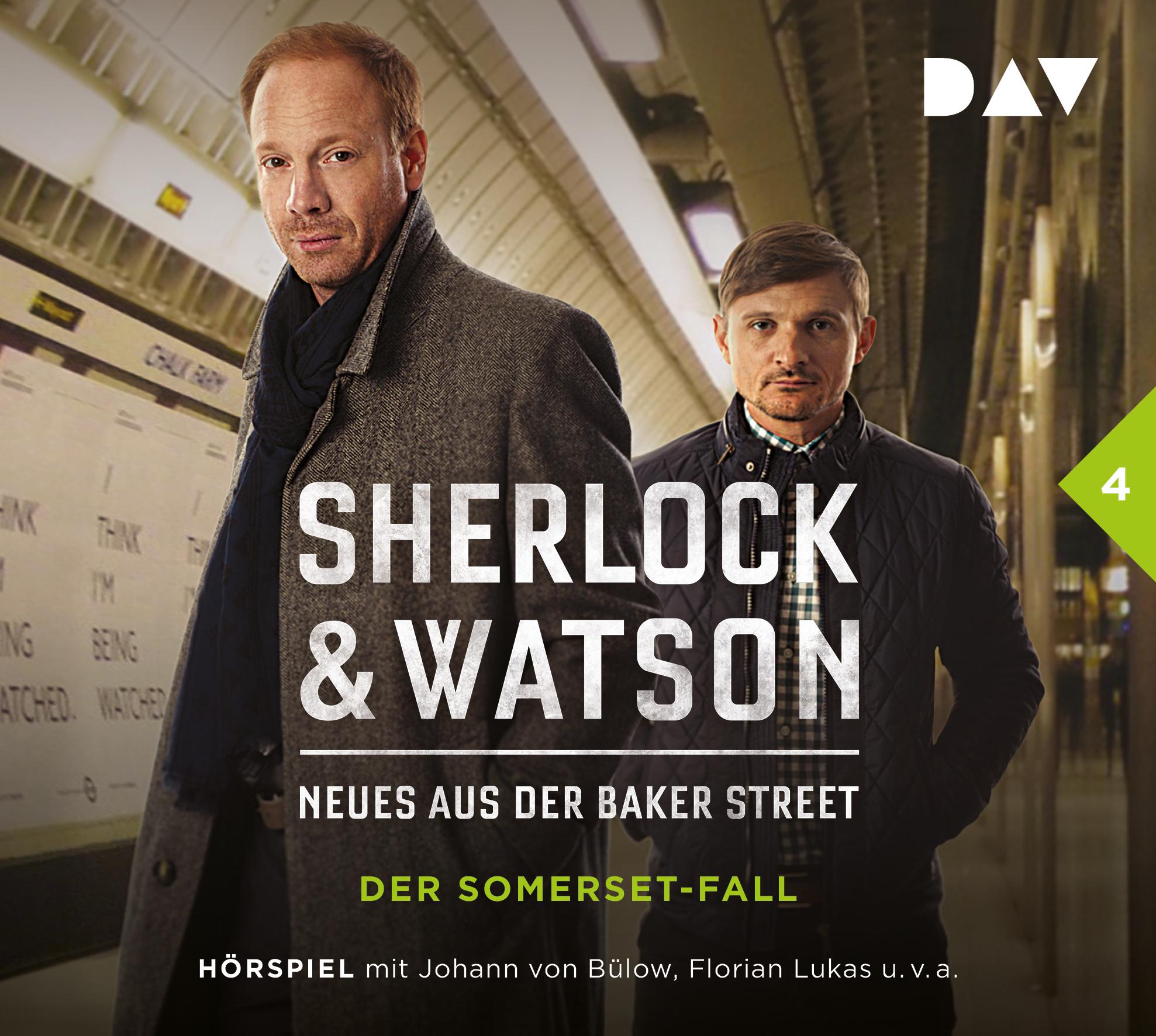 "Gratis / Kostenlos: DAV-Hörspiel ""Sherlock & Watson - Neues aus der Baker Street: Der Somerset-Fall (Fall 4)"" als mp3-Download beim SWR"