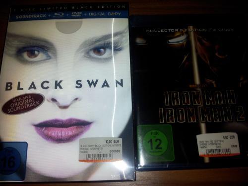 [Lokal Mediamarkt Berlin] Black Swan Limited Black Edition BD 10€ | Iron Man 1+2 BD 5€