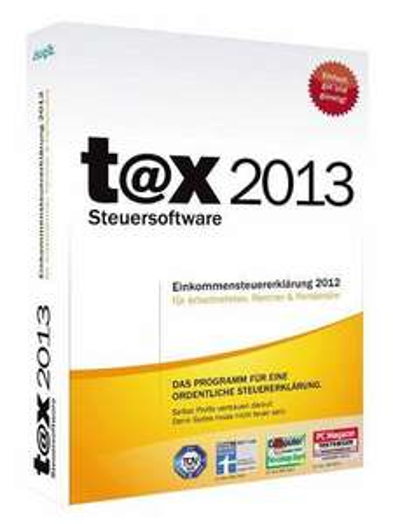 Tax Standard 2013 (CD/DVD) für EUR 9,99 (für Steuerjahr 2012)