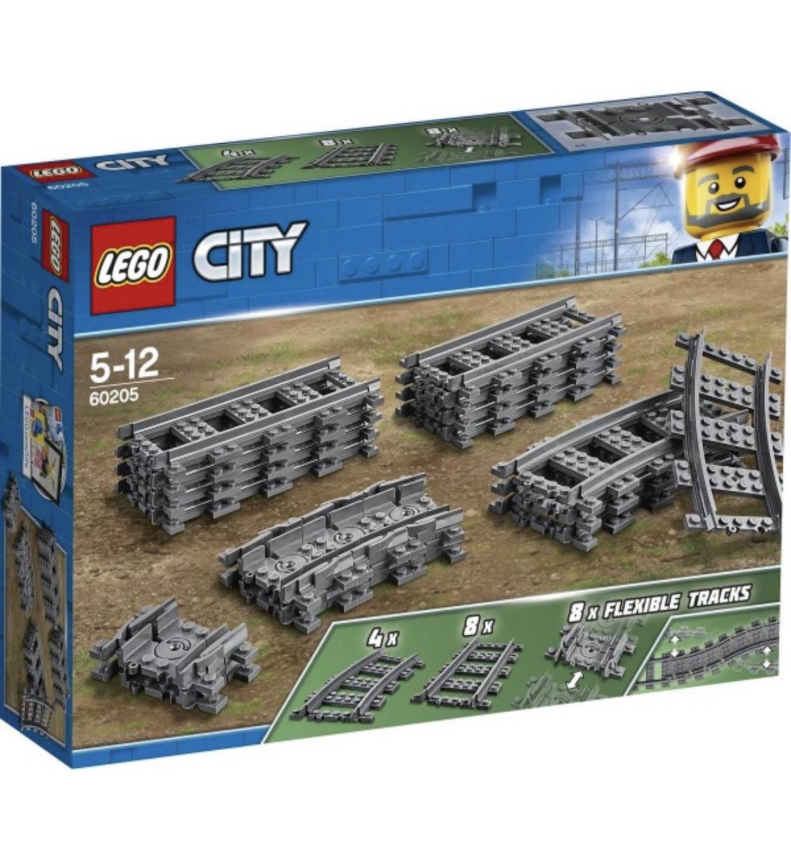 [BuyBricks] LEGO® City 60205 Schienen und Kurven, 20 Teile