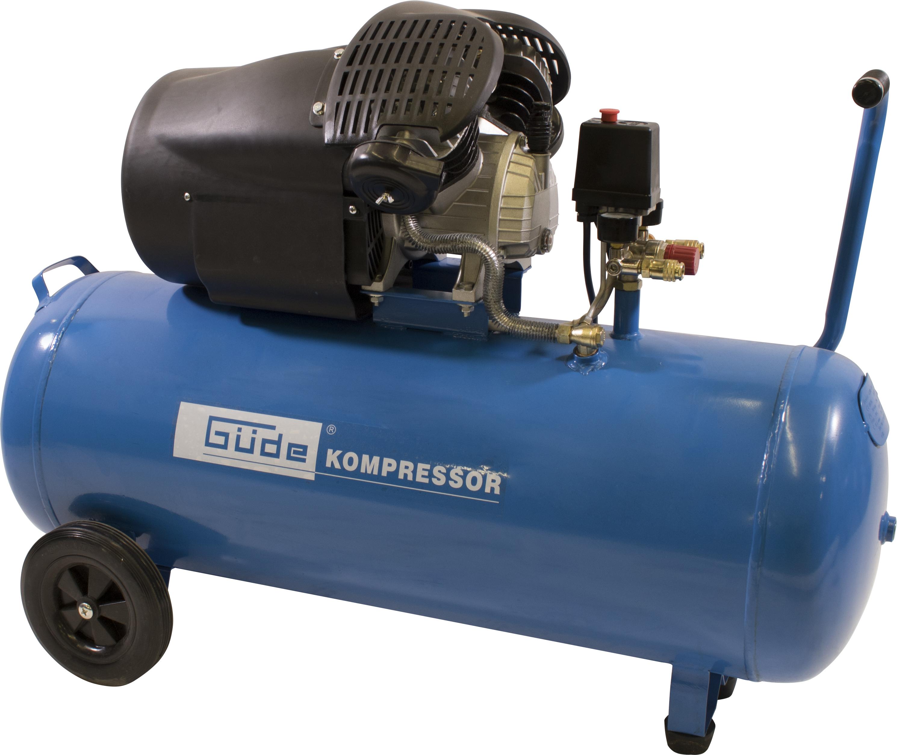 Güde Kompressor 412/8/1008 bar, 100 l, 412 l/min, 2,2 KW, 2 Zylinder