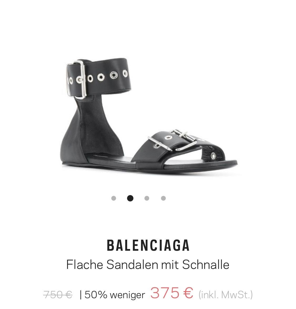 Balenciaga flache Sandalen mit Schnalle * Fehler Freies Hue Bsches Schuh Werk *