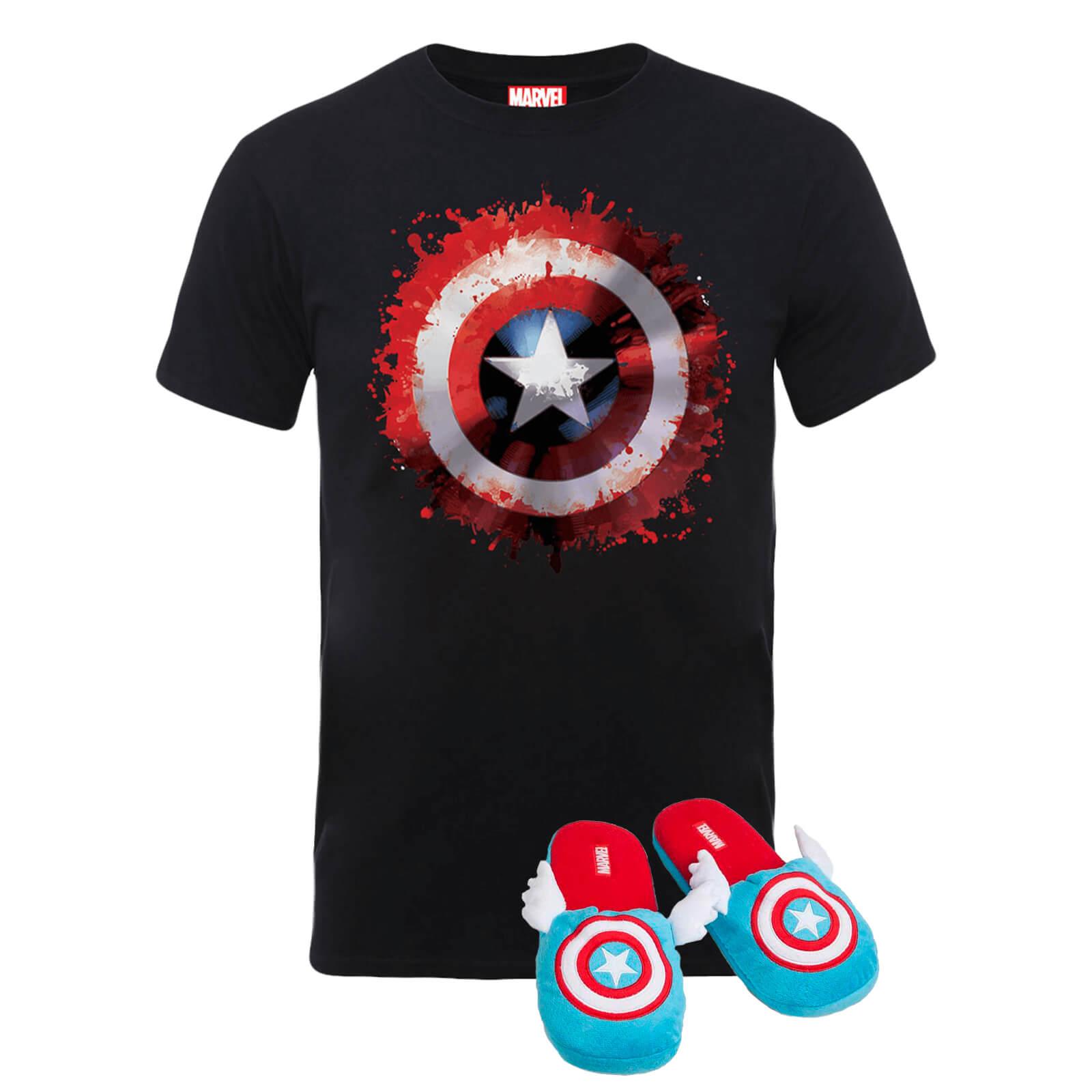 Marvel Captain America T-Shirt + Hausschuhe für 14,99€ inkl. Versand