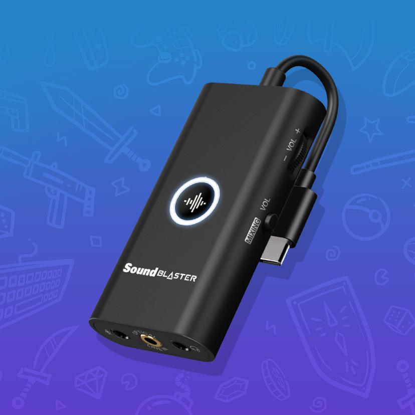Creative Sound Blaster G3 USB Soundkarte für Win, PS4, Switch