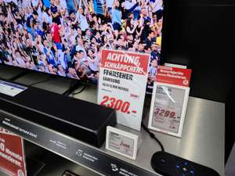 Samsung 65Q950 RGTXZG 8K QLED TV [Lokal Mediamarkt Erlangen] [2300€ - 300€ Cashback DE Modell] [Gratis 5 Jahre Garantie -199€]