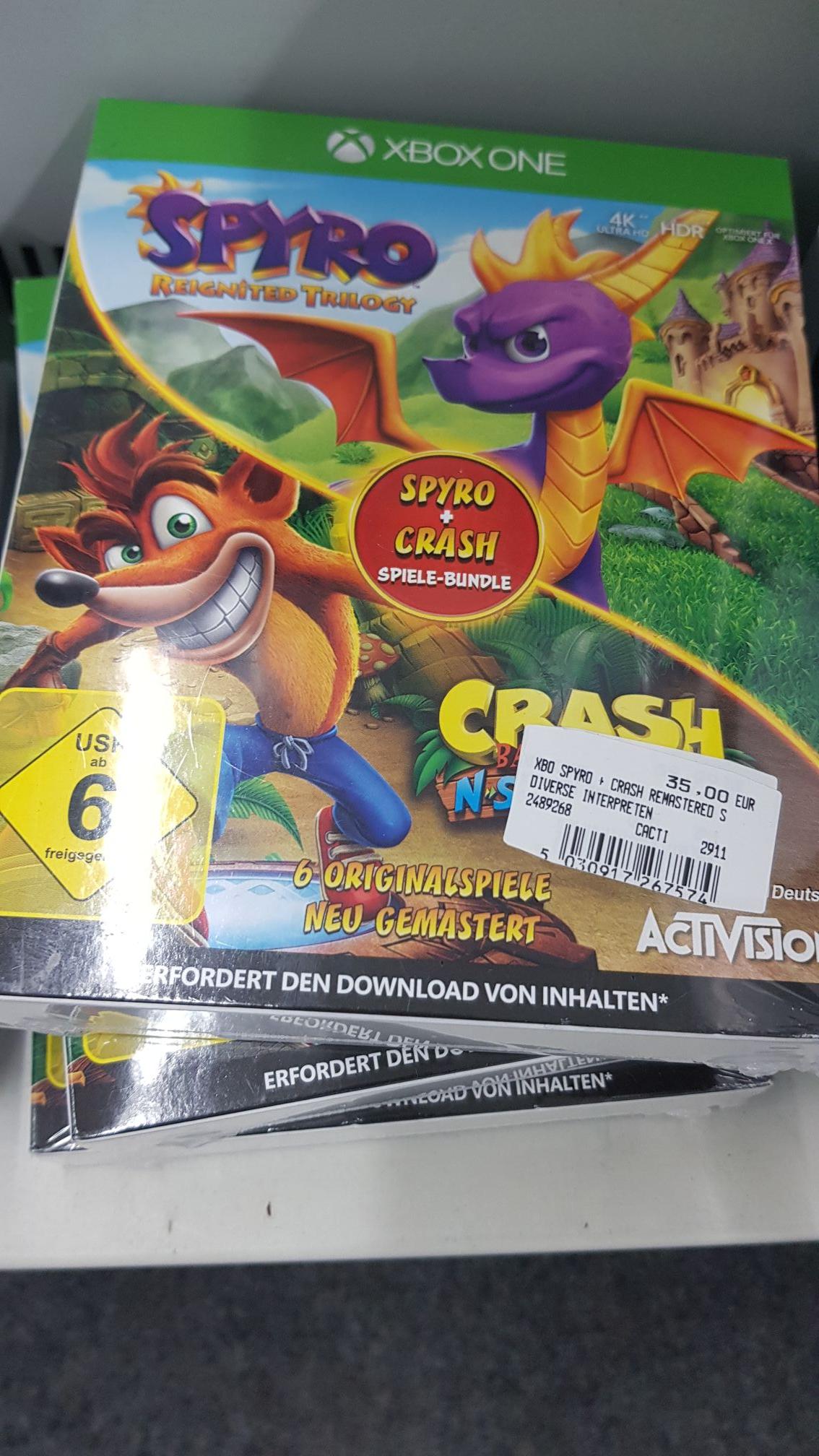 Crash Bandicoot & Spyro Xbox One [Lokal / MM Friedrichshafen]