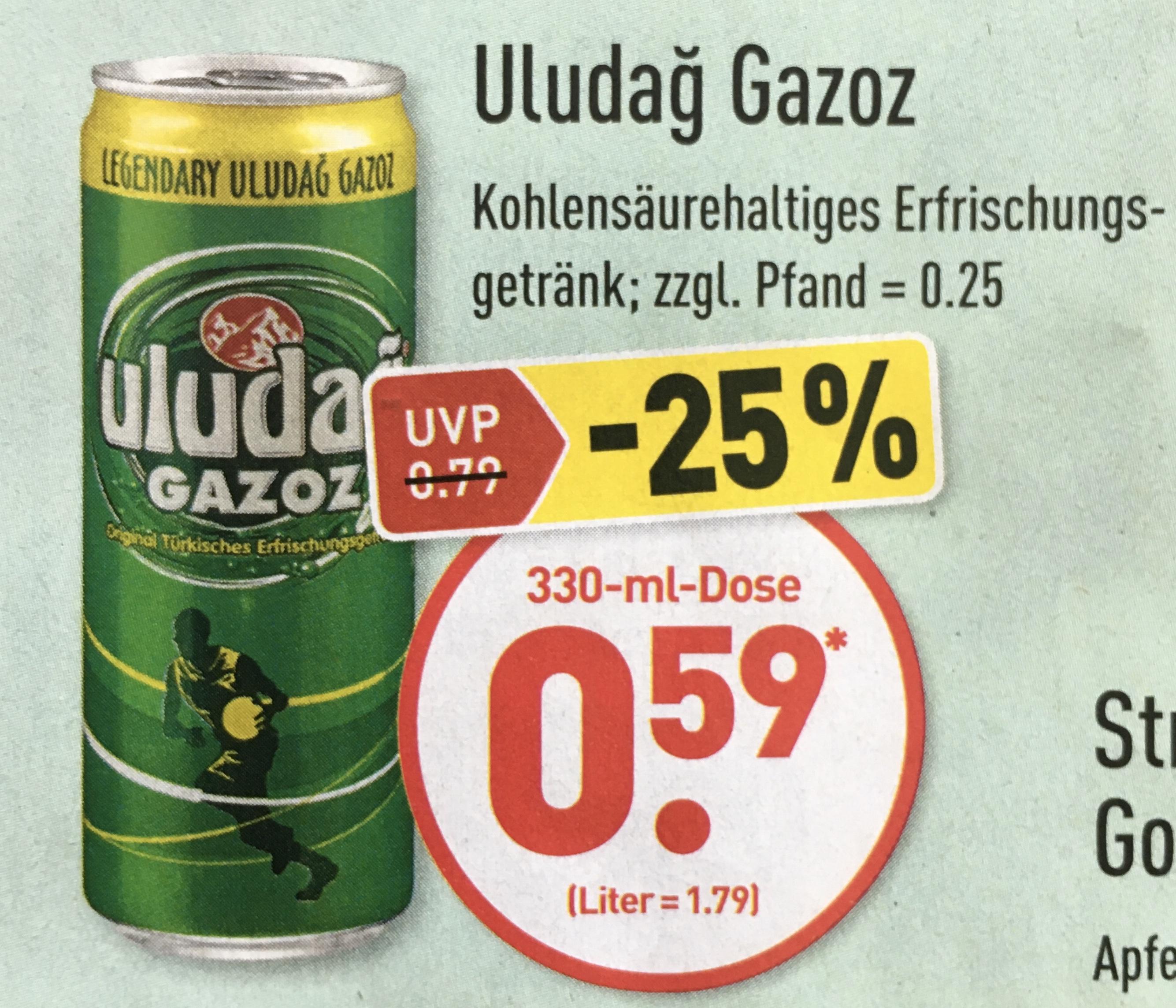 Uludağ Gazoz 0,33L für nur 0,59€ ab 05.06. [ALDI-NORD]