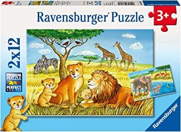 Ravensburger - Elefant, Löwe & Co. 2 x 12 Teile Kinderpuzzle für 5€ (Amazon Prime)