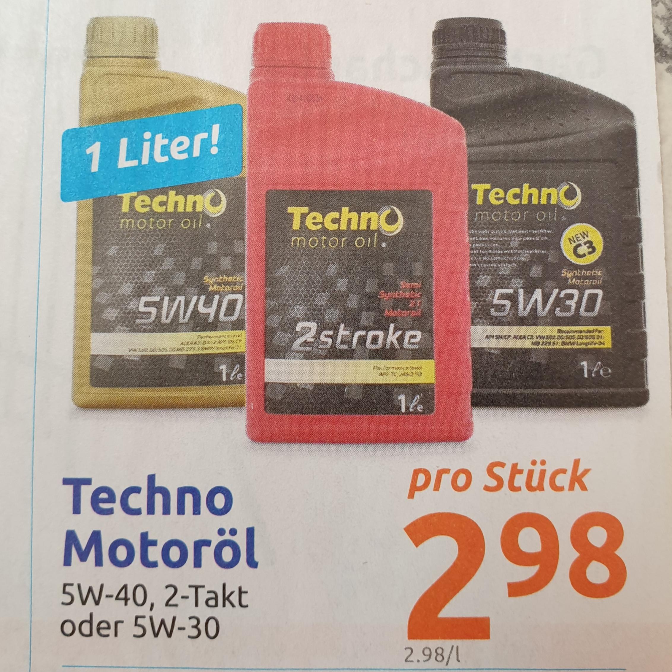 ( Action ) Techno Motoröl 5w40/2-Takt/5w30 je 2,98€/Liter