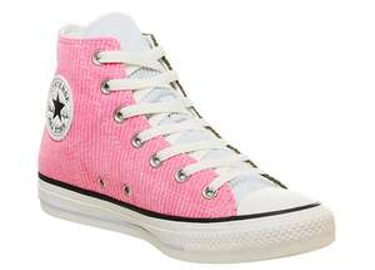 Converse All Star Hi Trainers Corduroy Herbal Pink Egret Exclusive + Sohlen [60% auf Schuhe im Onlineshop]