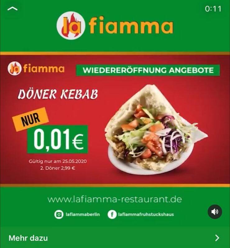 Döner für 1 Cent bei LaFiamma in Berlin-Wedding