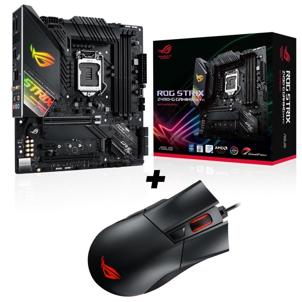 Asus ROG Strix Z490-G Gaming Mainboard WiFi + GRATIS Asus ROG Gladius II Gaming Maus (Prime) für 273,58€ (statt 331€)