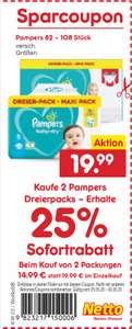 Pampers baby-dry + baby-dry pants 2er maxi-pack [Netto] [KW22 25. -30.05.]