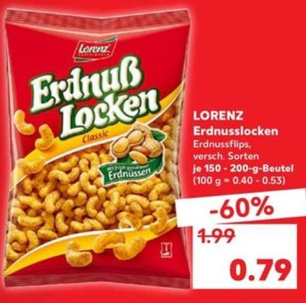 [Kaufland ggf. lokal] Lorenz Erdnusslocken, Loopys & Co.
