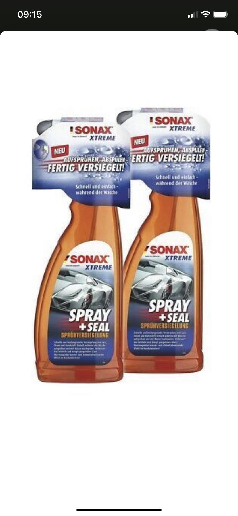 Autopflege-Sammeldeal: Nassversiegelung Sonax Xtreme Spray + Seal Sprühversiegelung