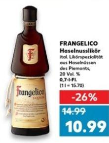 [Kaufland Do-Mi] Frangelico Haselnusslikör 0,7l mit Coupon für 7,69€