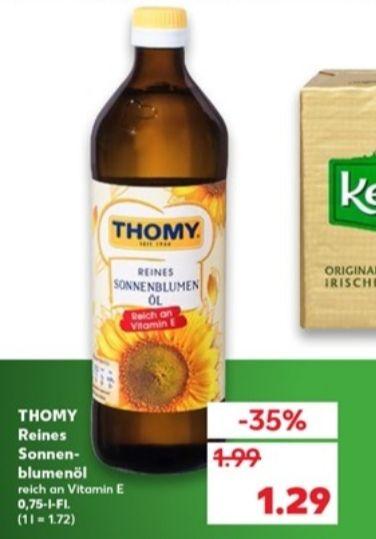 [Kaufland Di-Mi] 2x Thomy Sonnenblumenöl 0,7l mit Coupon für 1,88€