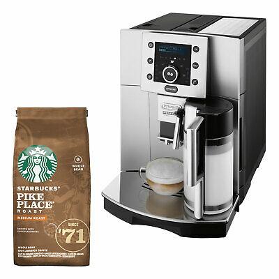 DeLonghi ESAM 5500.S Perfecta Kaffeevollautomat + Starbucks Kaffeebohnen Pike Place Roast 200g