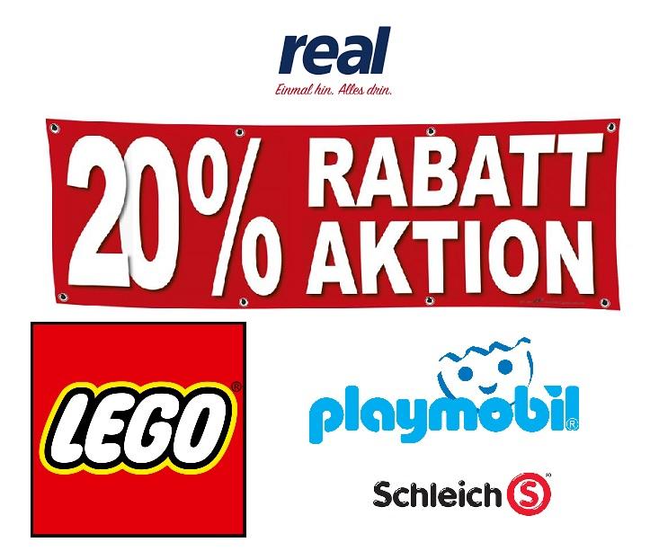 20% Rabatt auf alle LEGO + Playmobil + Schleich Artikel // Bundesweit nur Montag 25.05. im Real Markt -- Lego 11005 Steinebox 24,- Euro --