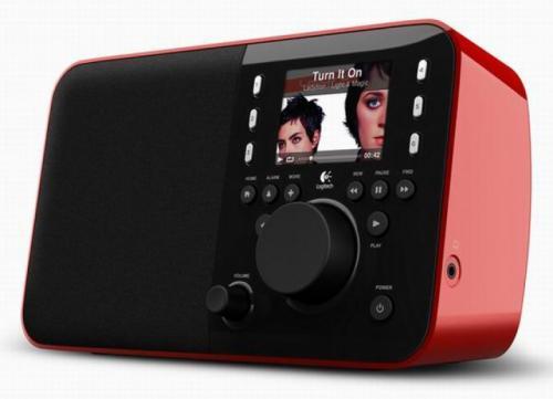 Logitech Squeezebox Radio Red incl. Akku Pack